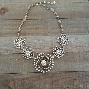 Gold and faux pearl necklace